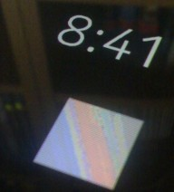 Photo of N9 lock screen with colour image